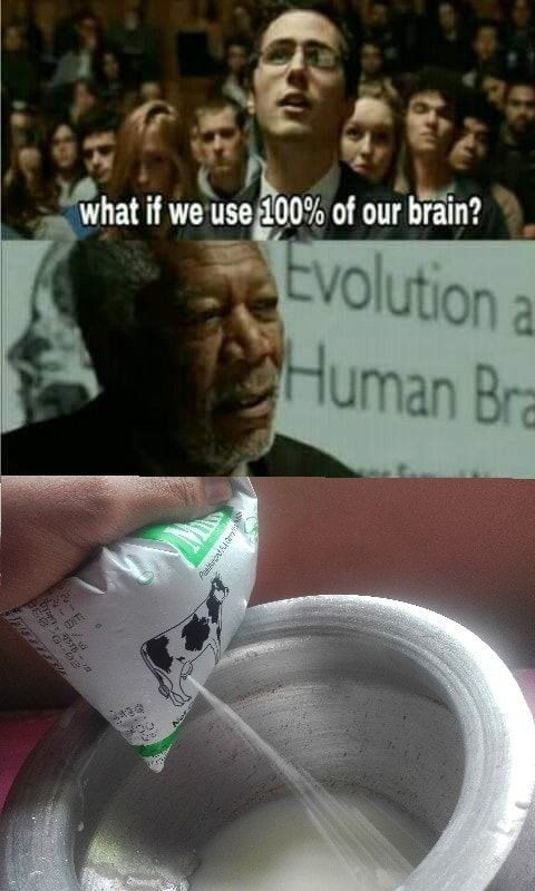 100% Brain usage - meme
