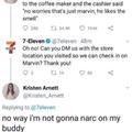 Not rattin' on Marv for nuttin'