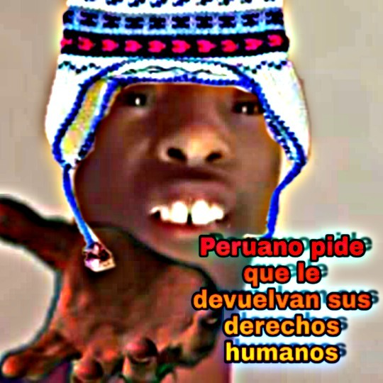 Peruano pide que le devuelvan sus derechos humanos phohoohohohohohohohohyo - meme