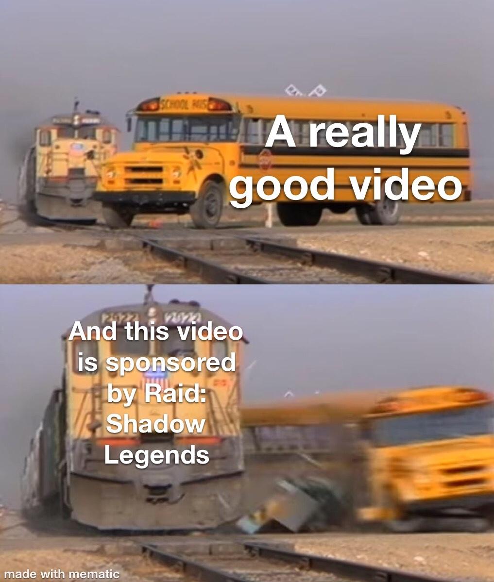 The dreaded sponsorship - meme