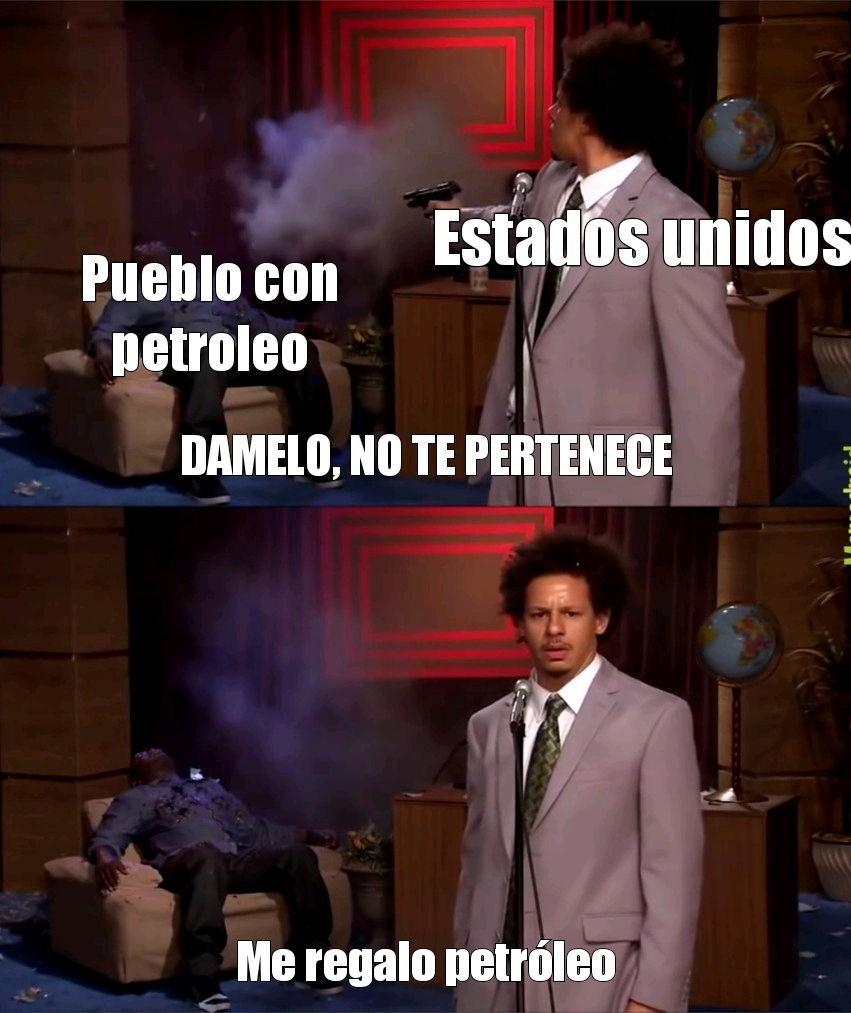 Usa love petroleo - meme