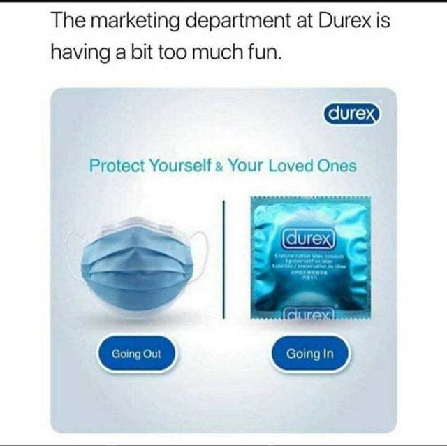The marketing department at Durex is having a bit too much fun - meme