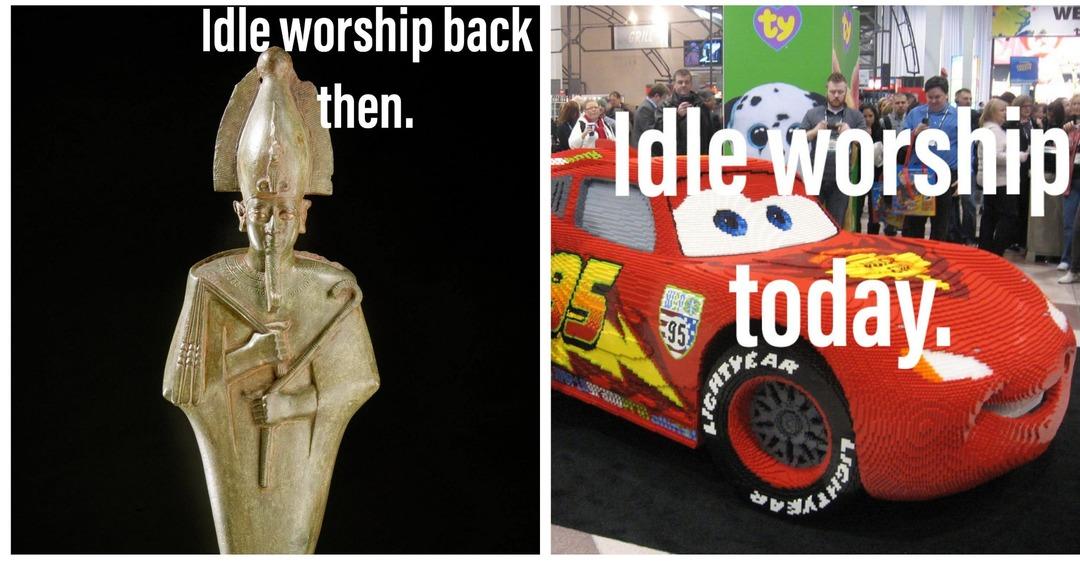 Worship lightning mcqueen. - meme