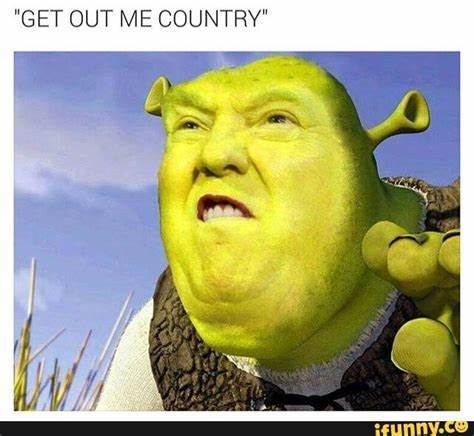 Get out me country!! - meme
