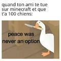 La paix n'a jamais été une option