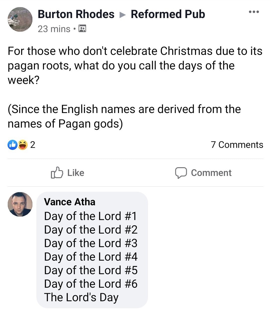 It's the Lord's Day! - meme