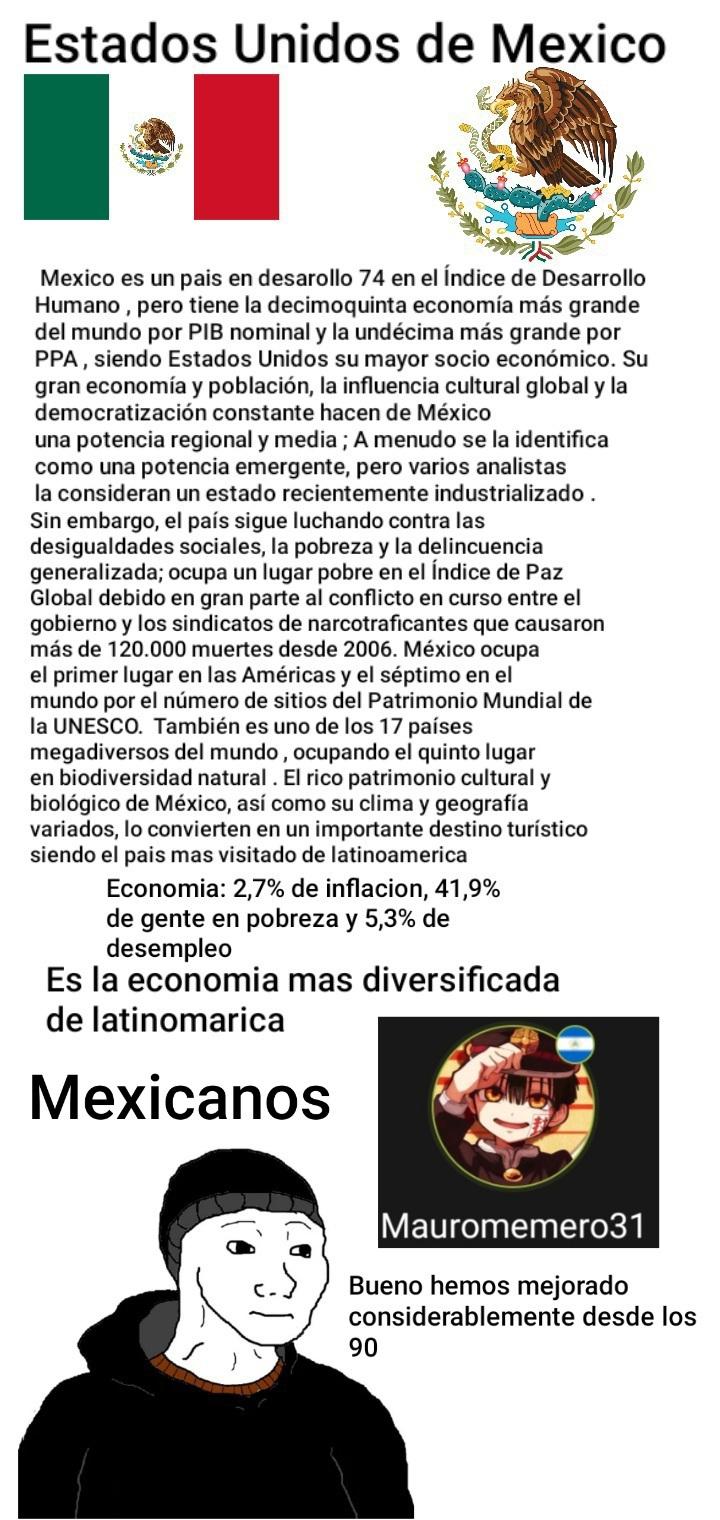 Situacion de Mexico - meme