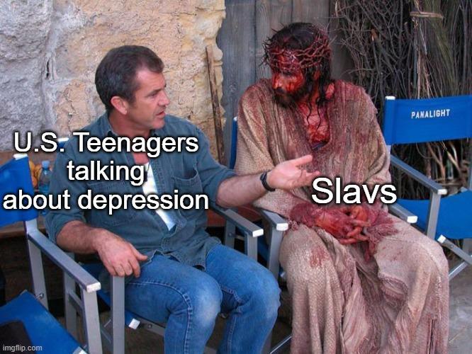 You don't know pain, like Slavic Pain - meme