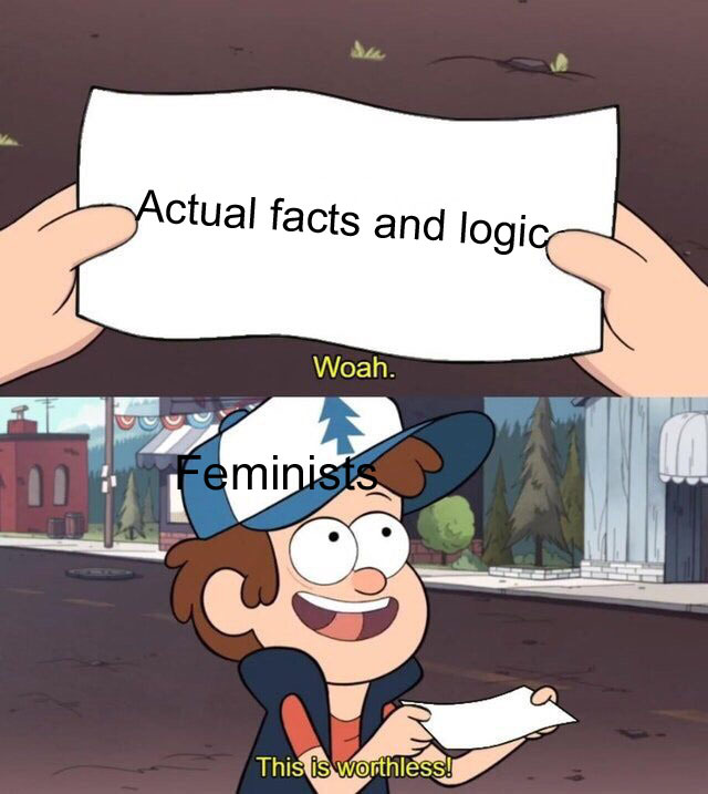 Feminists have no facts - meme