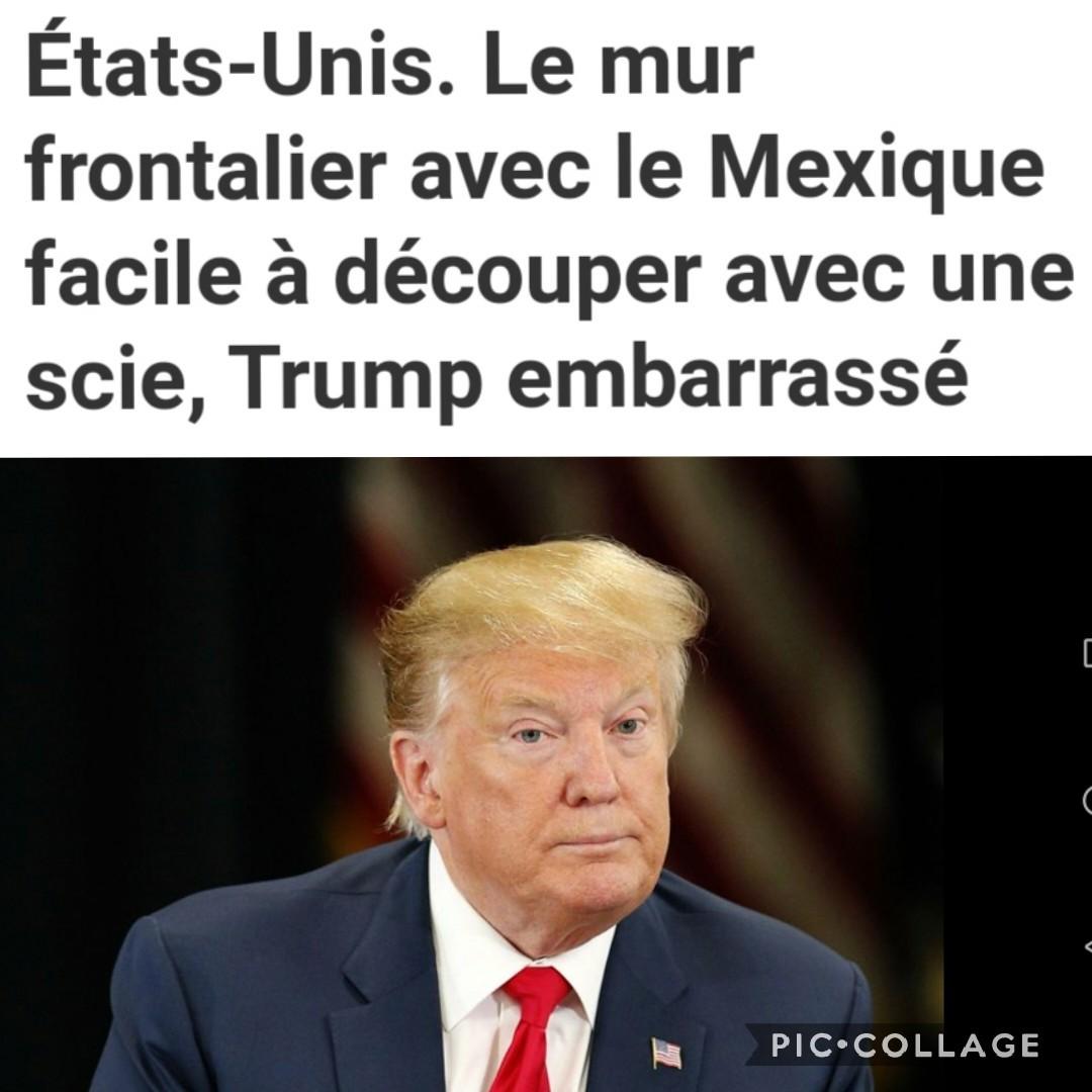 Donald trump en sueur - meme