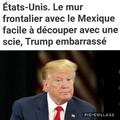 Donald trump en sueur