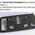 Par contre c'est le vrai clavier et métier.