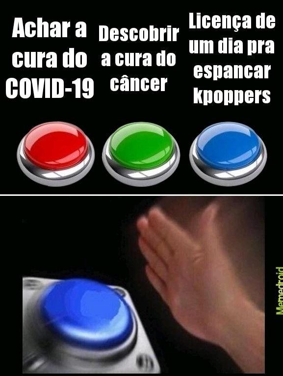 Kpoppers a verdadeira doença - meme