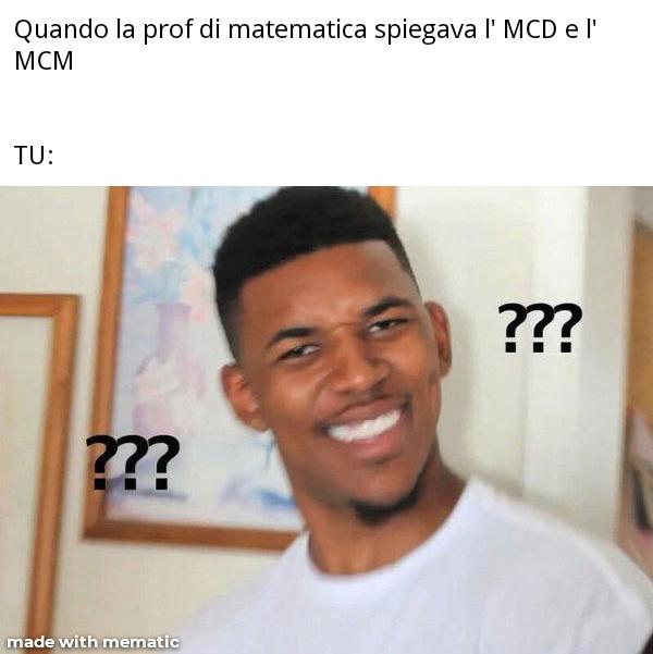 La matematica fa schifo - meme