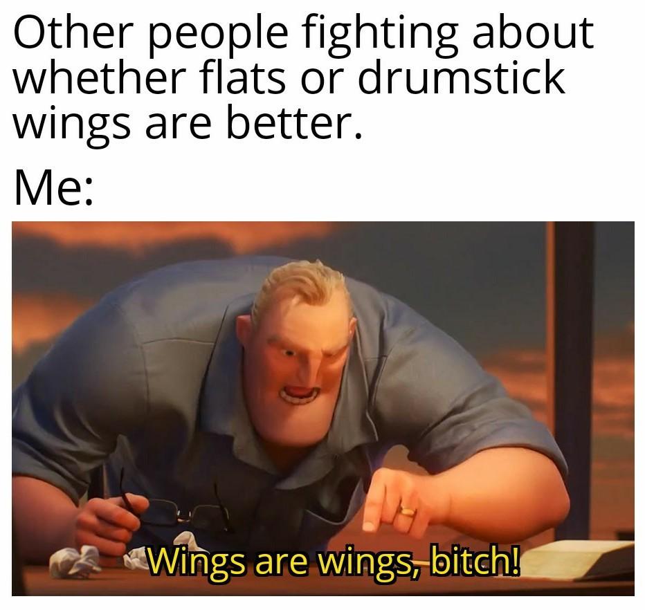 Wings are love! - meme