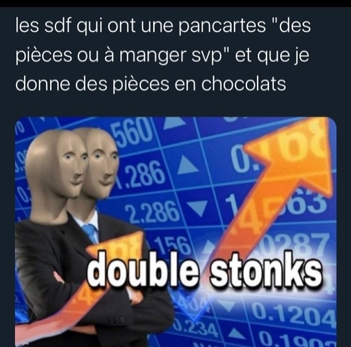 Double Stonks ! - meme