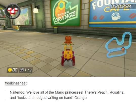 You mean orange peach? - meme