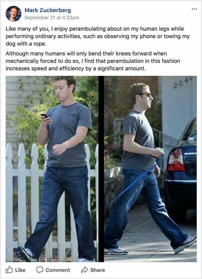 Robot Zuckerberg - meme