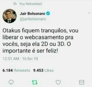 BORA VOTA NO BOLSONARO AGORA - meme