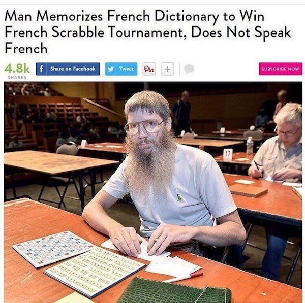 You just got the French word for served - meme