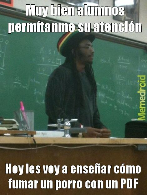 Teacher rasta - meme