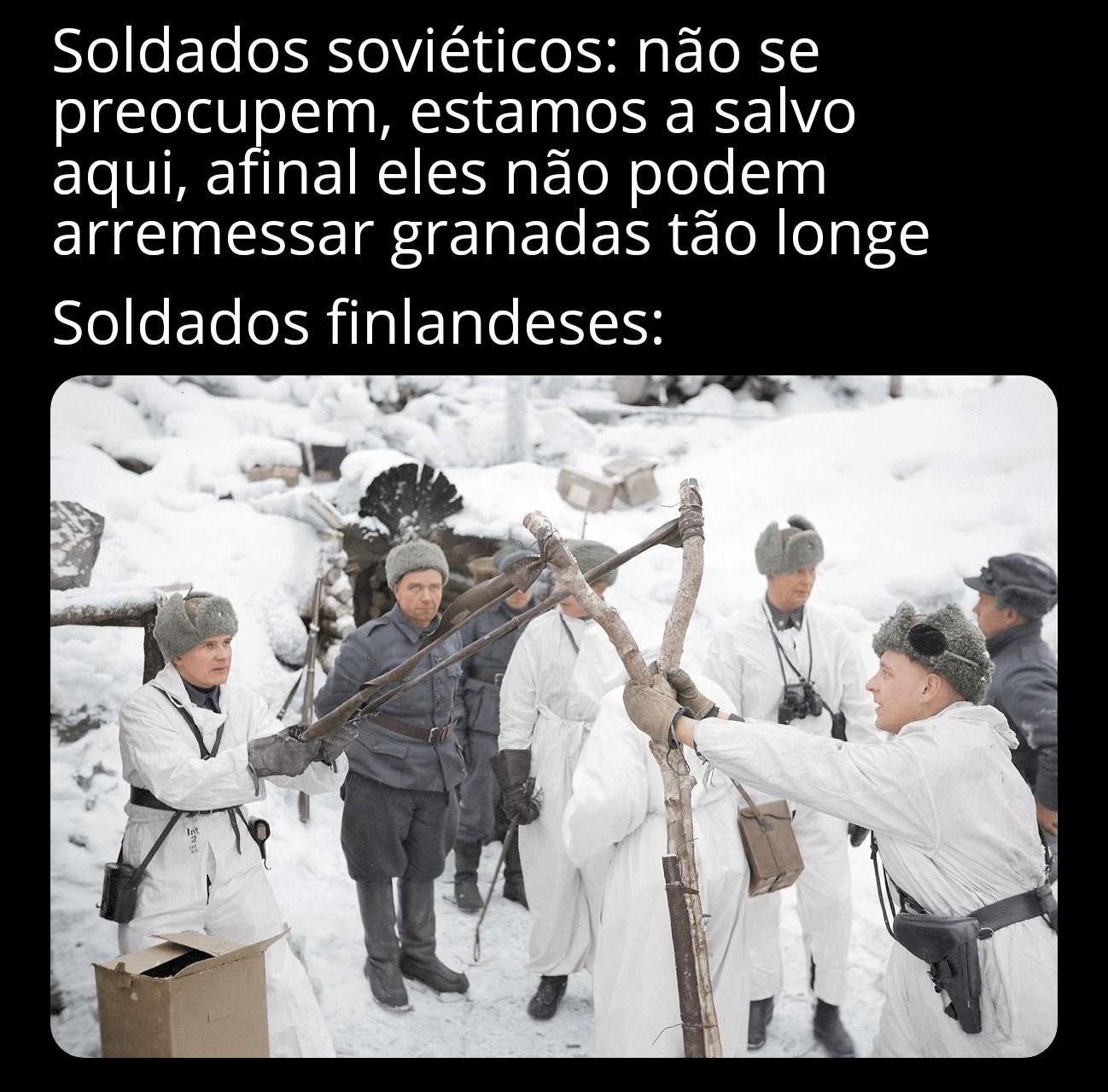 Contexto: guerra de inverno/soviético-finlandesa - meme