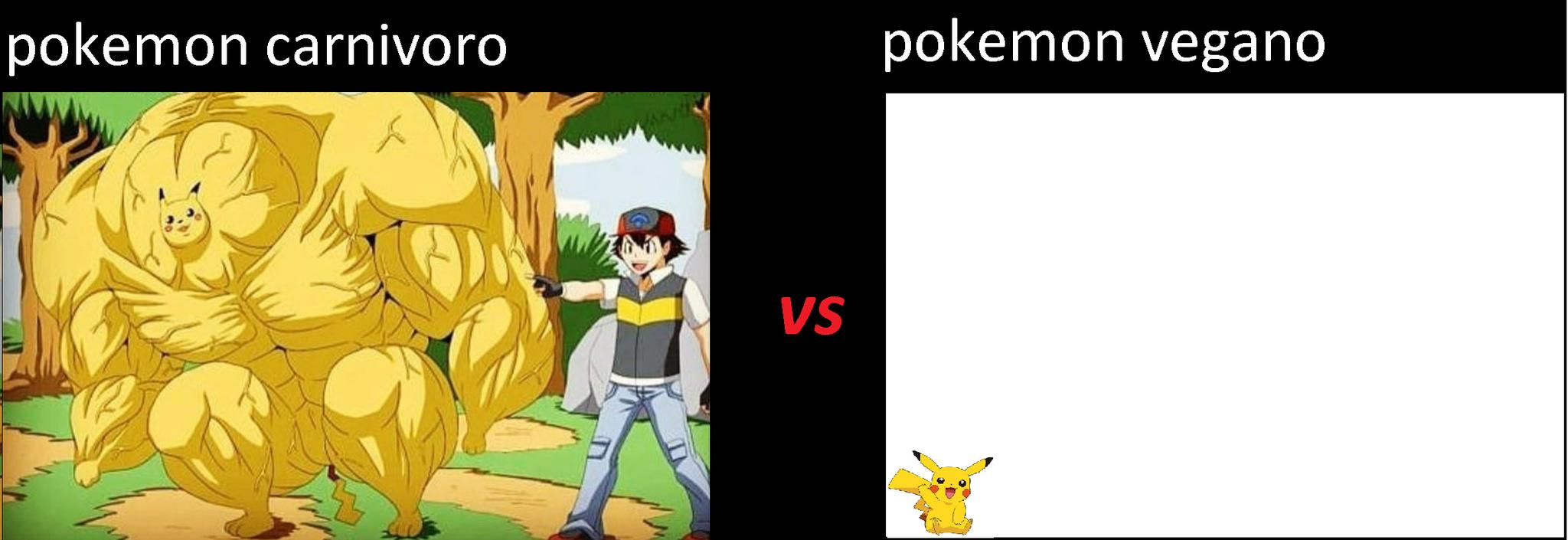 alimenten con carne a sus pokemon - meme
