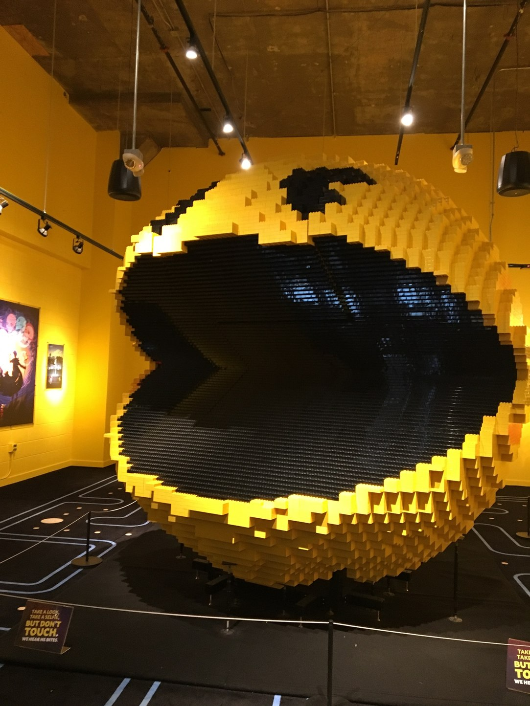 This is the worlds largest Pac-Man made of legos it took 8 days to build. Still think you have no life? - meme