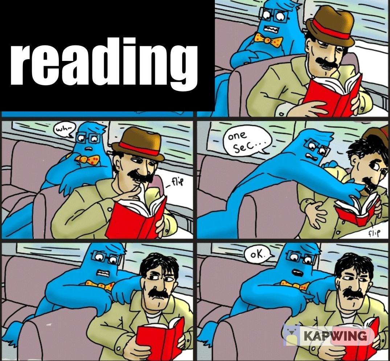 reading - meme
