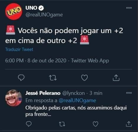 Uno não sabe jogar Uno - meme