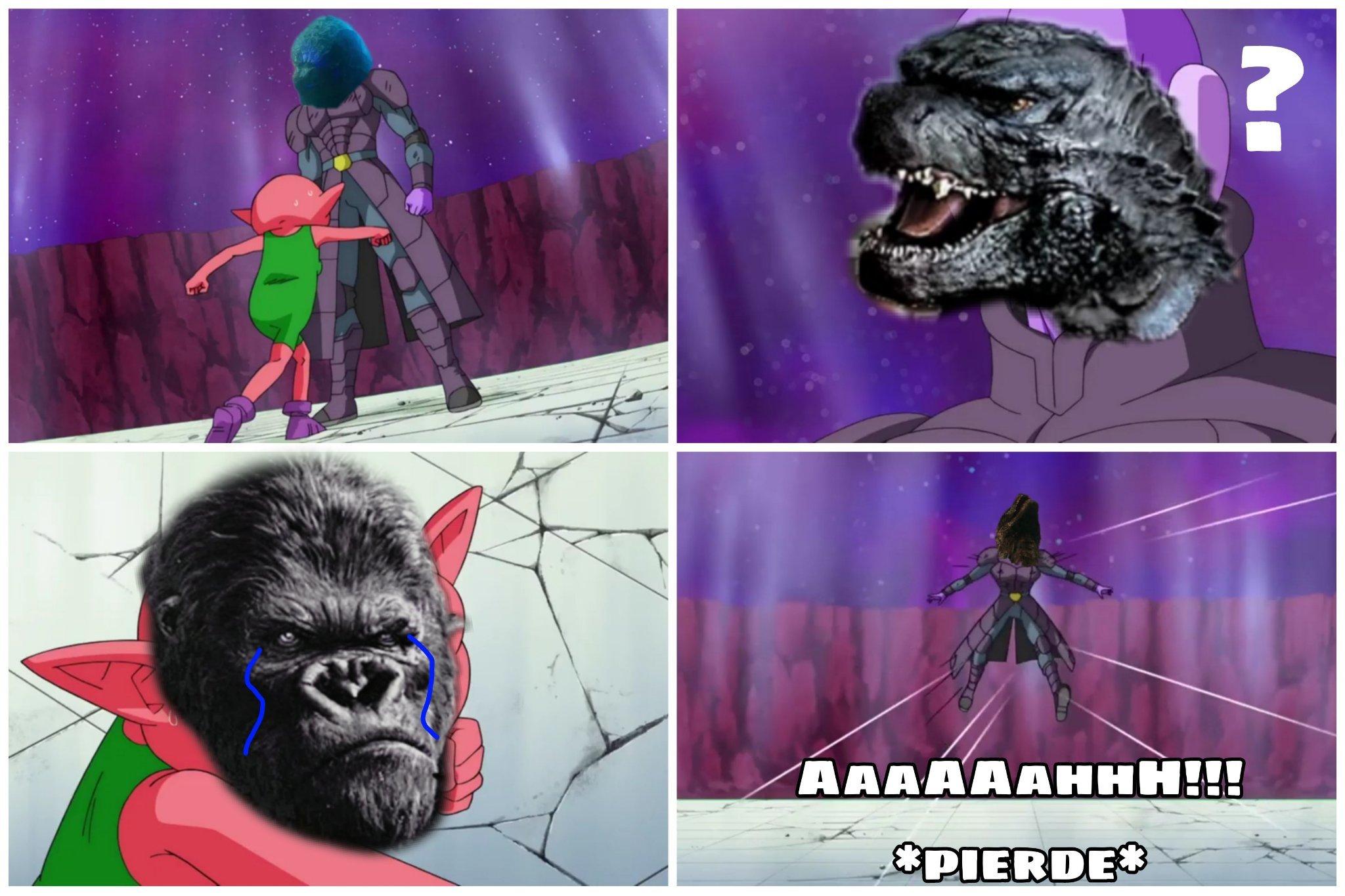 Básicamente asi será el final de Godzilla vs Kong - meme