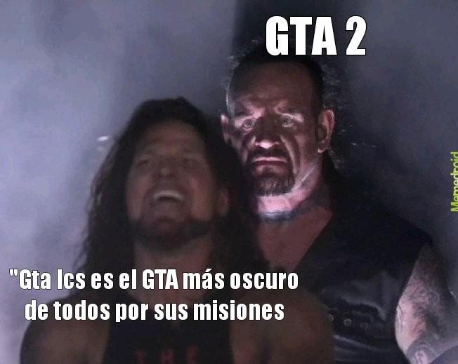 GTA 2 tiene misiones Muy crueles especialmente los perritos calientes son gente - meme