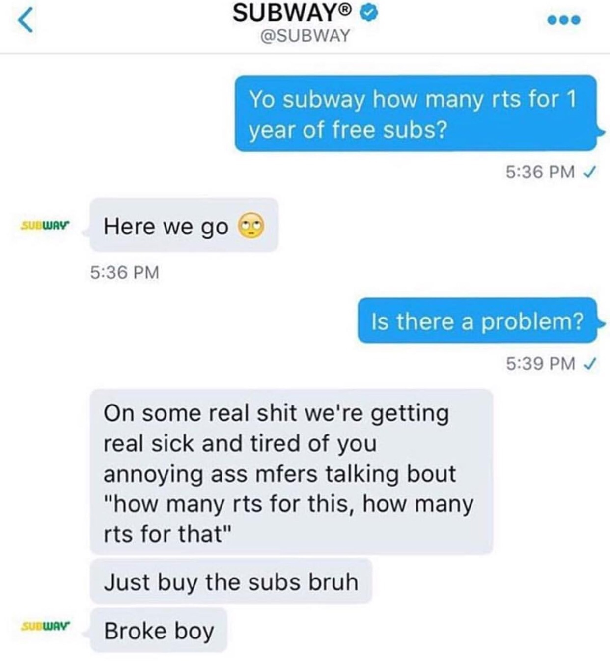 Subway Eat Fresh - meme