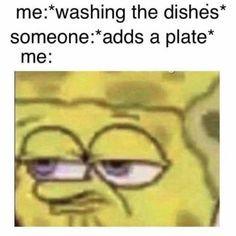 I hate dishes - meme