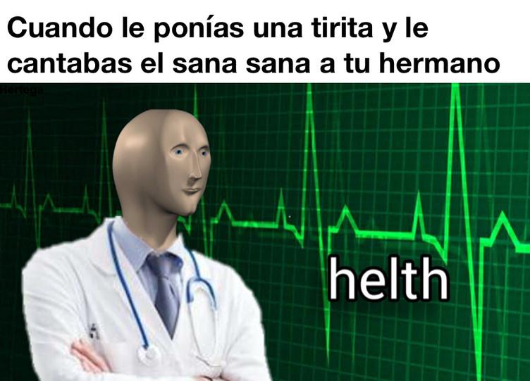 El título tiene 100% de salud - meme