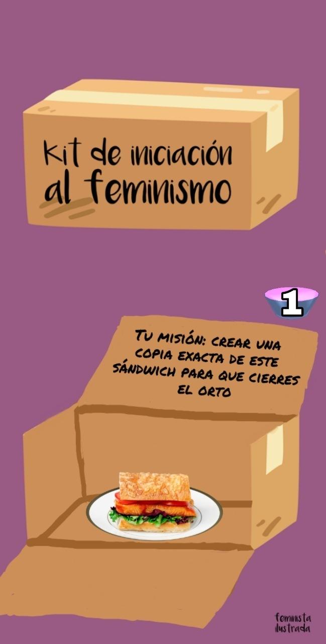 Misiones para las feministas - meme