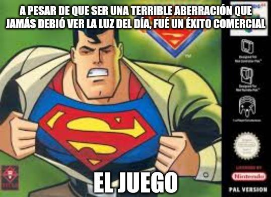 Literal todita la trama del juego se resume así: Lex Luthor encierra a los amigos de Superman en el internet y Superman tiene que ir a salvarlos. Fin. - meme