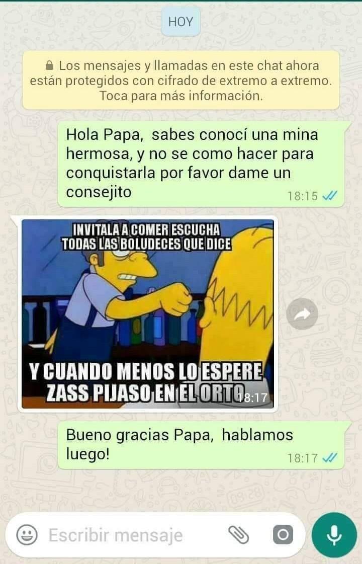 Gracias papa ;) - meme