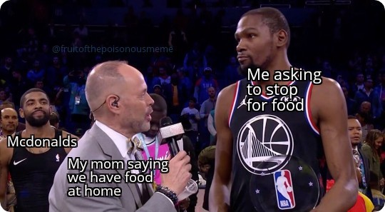But i dont want the food at home - meme