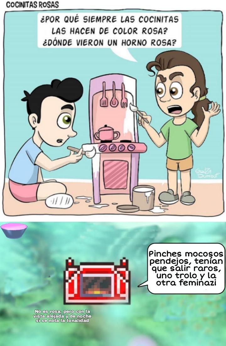 De alguna manera es rosa esa forja - meme