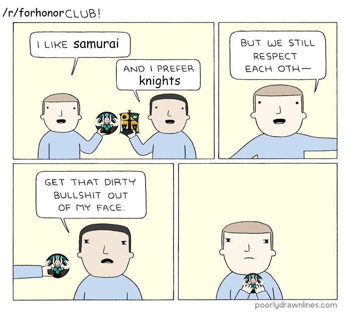For Honor in a nutshell - meme