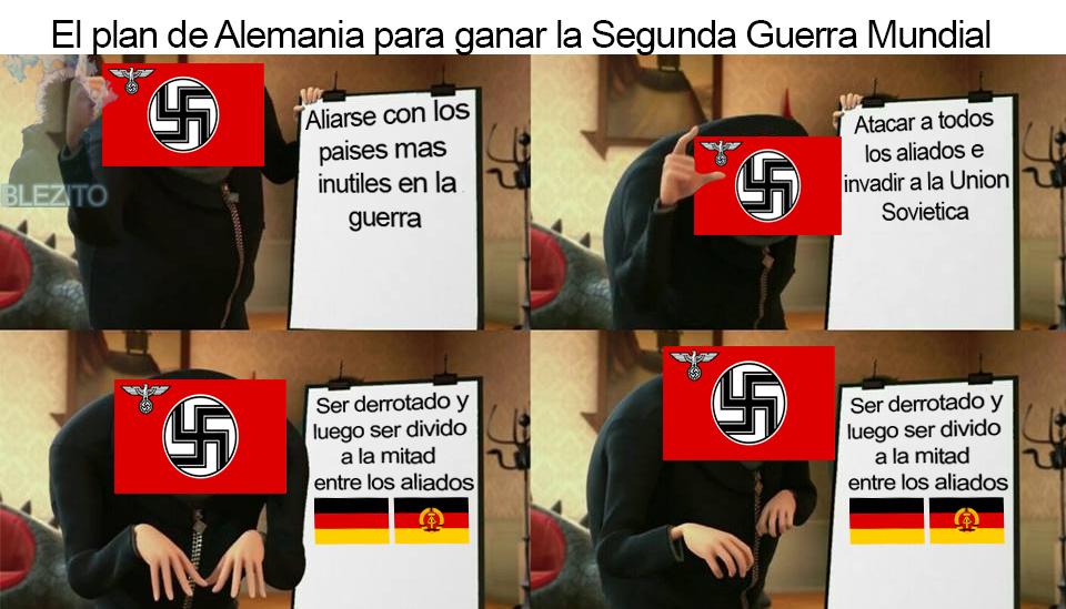 El plan para ganar una guerra - meme