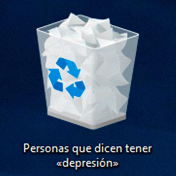 Personas que dicen tener «depresión» - meme