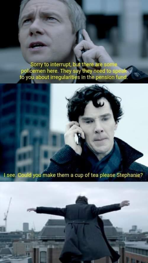 Sherlock IT Crowd crossover - meme