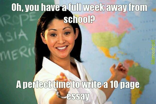 Essays suck - meme