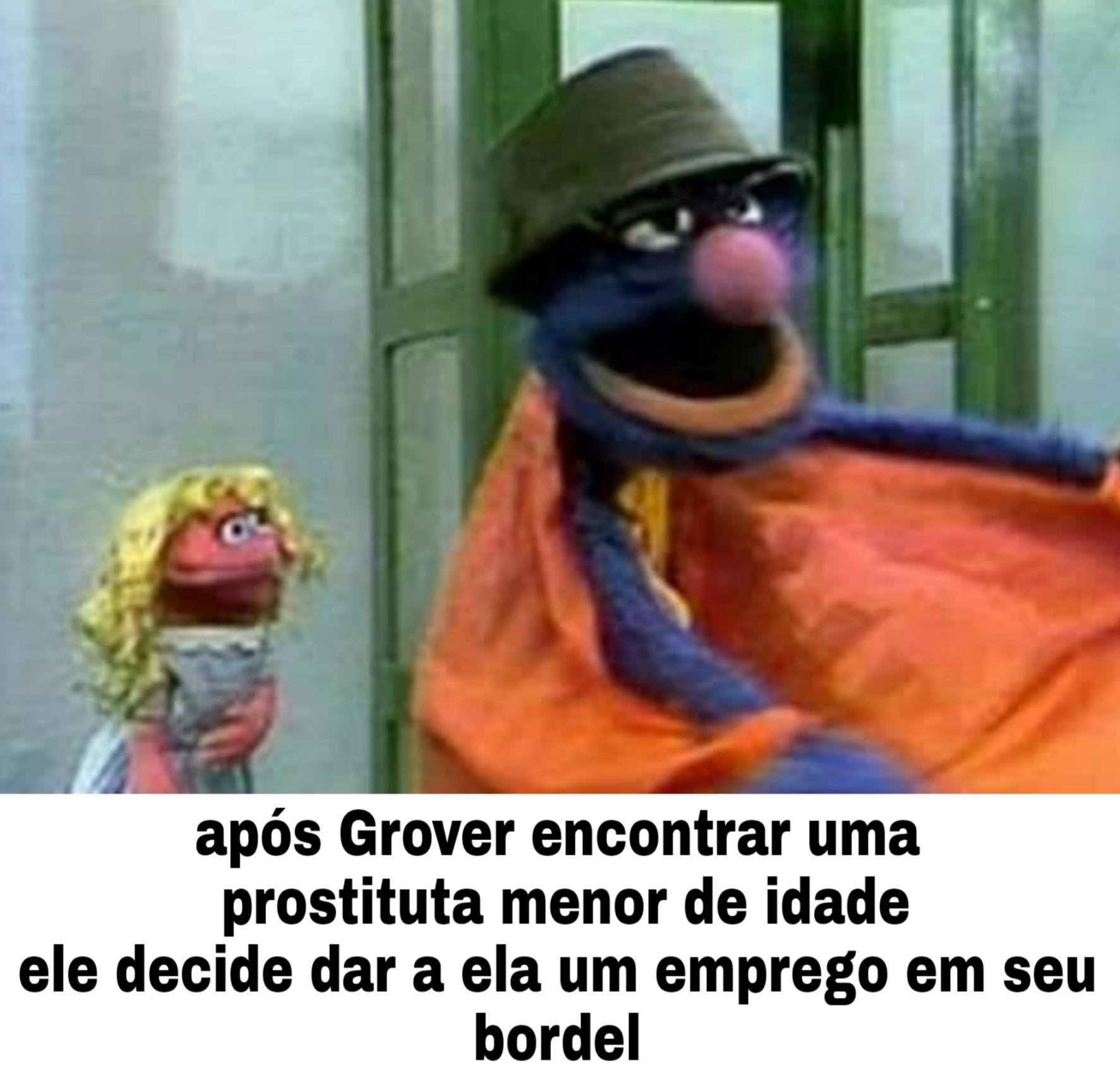 Grover cafetão - meme