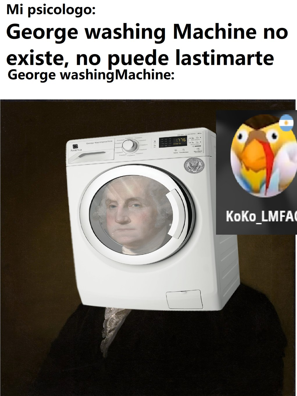 George WashingMachine - meme