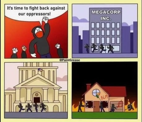BLM & Antifa be like - meme
