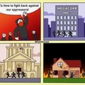 BLM & Antifa be like