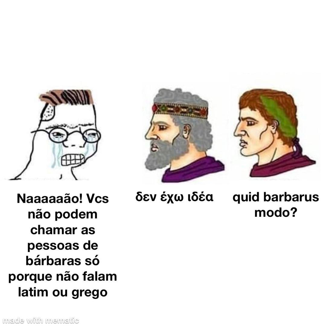 ave latinvm,chaire hellenos - meme